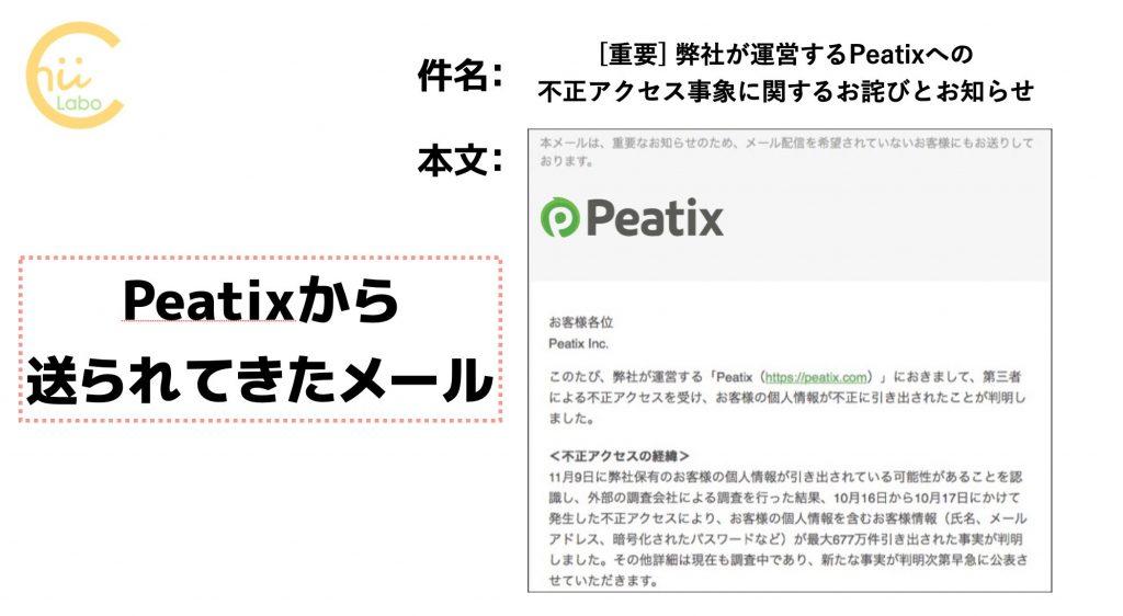 [重要] 弊社が運営するPeatixへの不正アクセス事象に関するお詫びとお知らせ