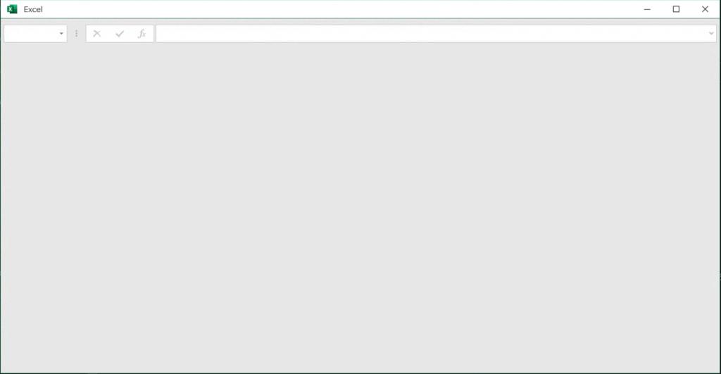 白いExcelの画面
