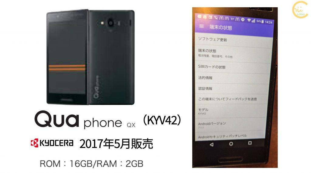 Qua phone QXのスペック