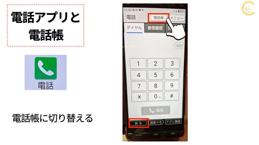 BASIO4で電話帳を表示する