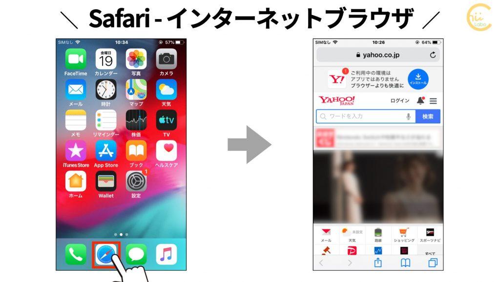 iPhoneのインターネットブラウザ Safari