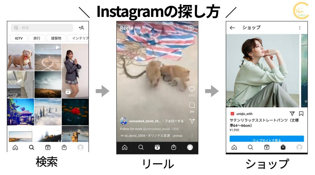 Instagramの探し方