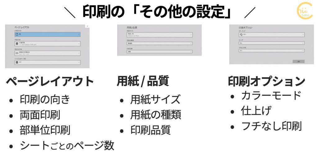 アプリの印刷設定(その他の設定)