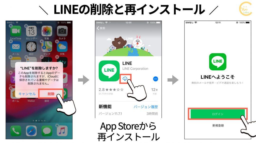LINEの削除と再インストール